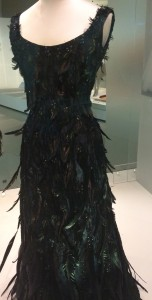 Feather and beaded evening dress by Hubert de Givenchy