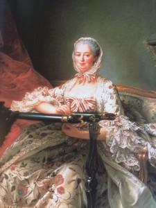Portrait by Francois-Hubert Drouais, Madame de Pompadour 1763-1764