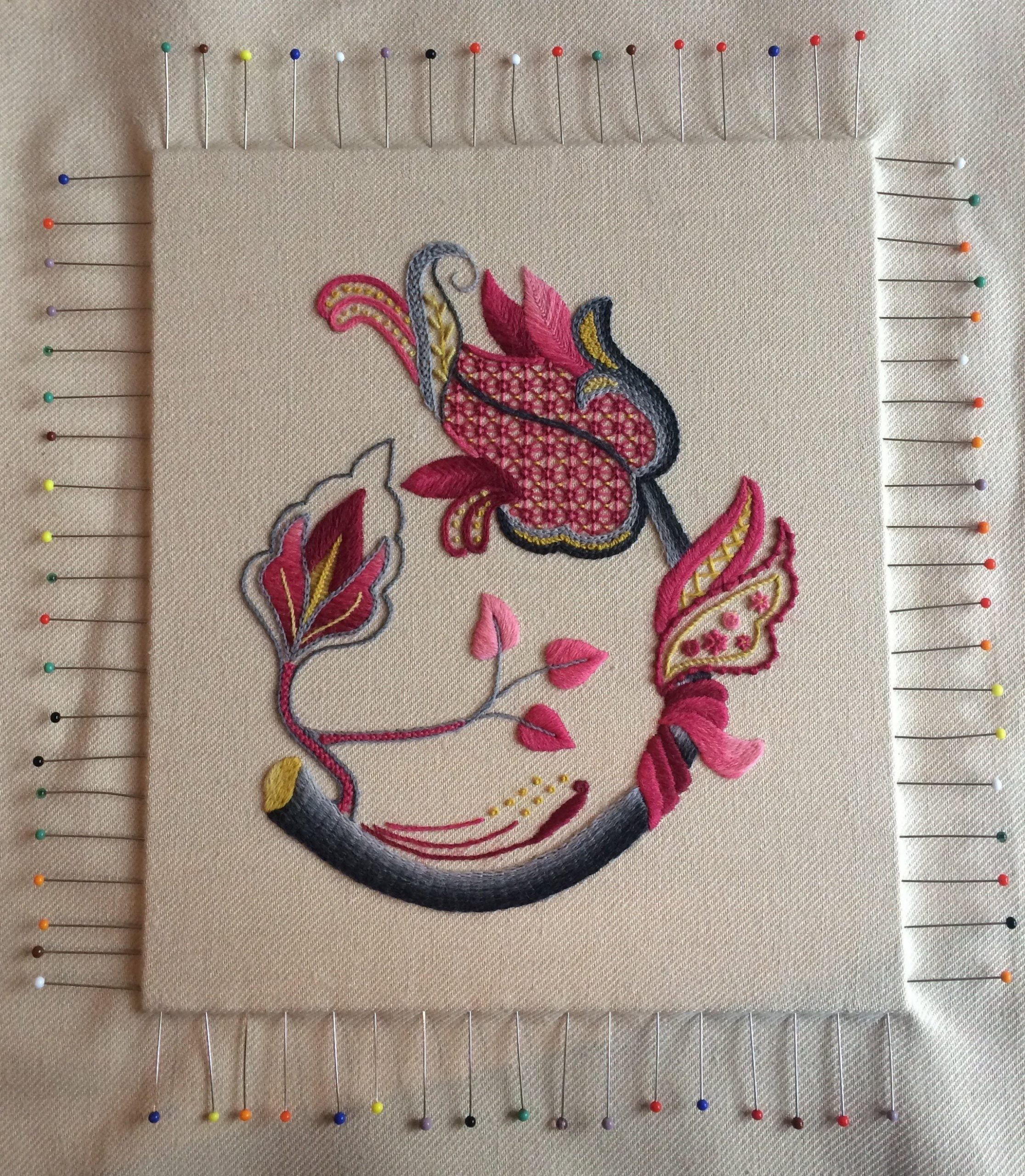 How To Mount Your Embroidery Ready For Framing – Part 1