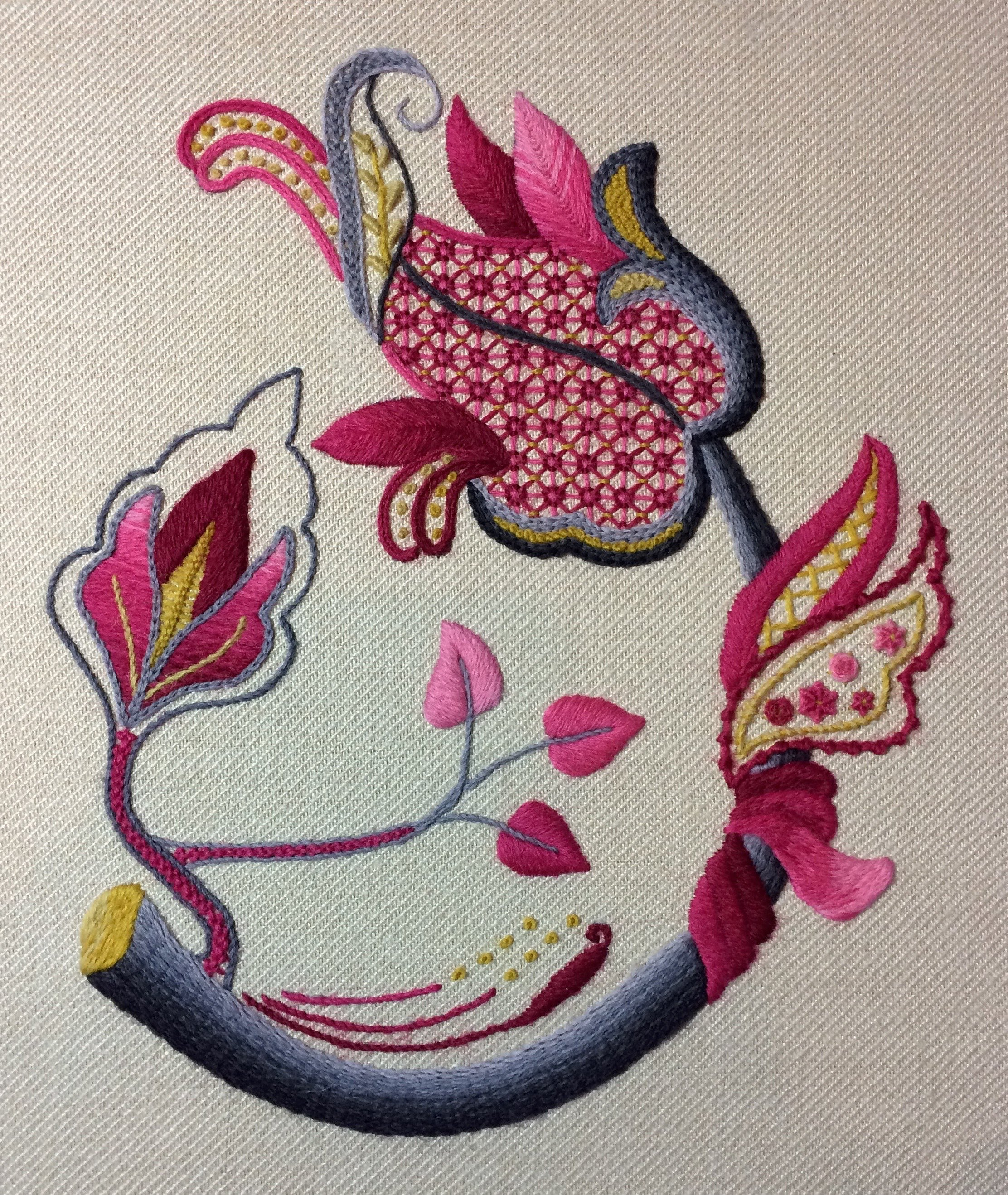A Brief History Of Jacobean Crewel Embroidery Well