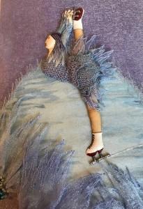 Stumpwork figure dancer