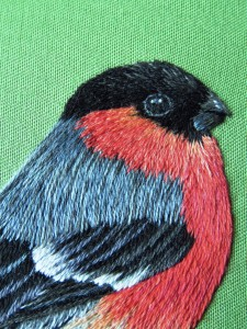 Silk shaded Bullfinch project (in book)