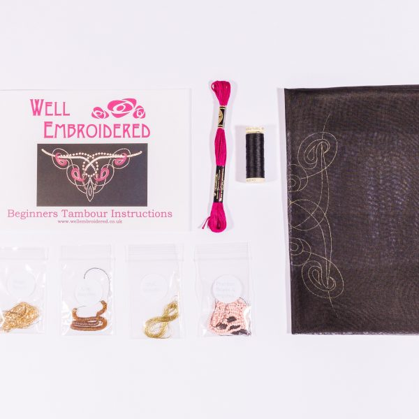 contents of tambour beading kit