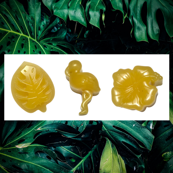 Tropical inspired beeswax thread conditioner for embroidery