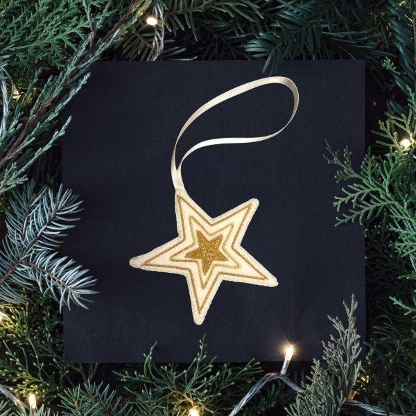 Goldwork Christmas decoration